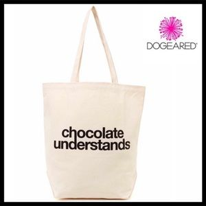 DOGEARED CANVAS TOTE BAG CHOCOLATE UNDERSTANDS